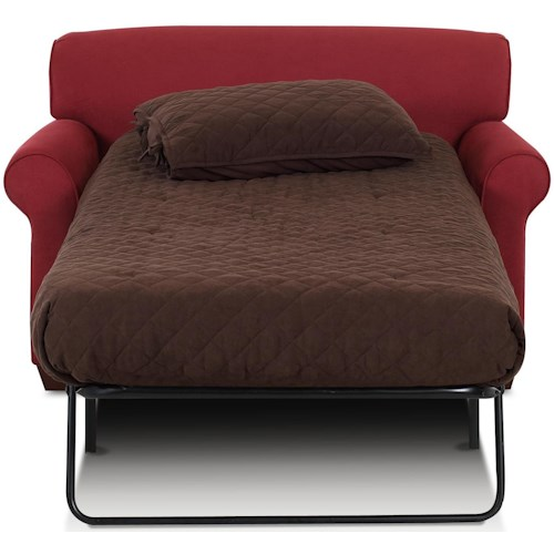 Klaussner Mayhew Sleeper Chair with Accent Pillows