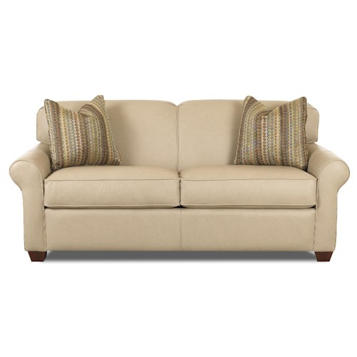 Klaussner Mayhew Innerspring Sleeper Sofa with Accent Pillows