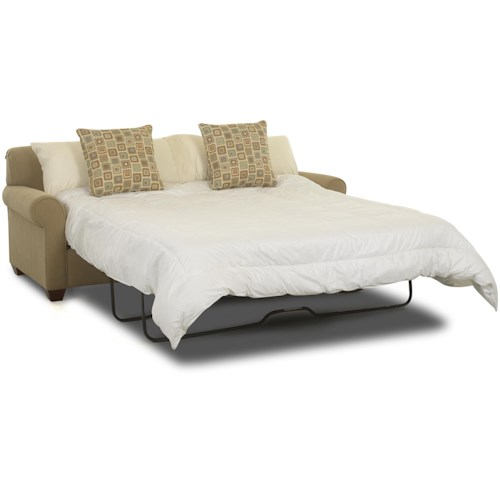 Klaussner Mayhew Enso Memory Foam Queen Sleeper Sofa