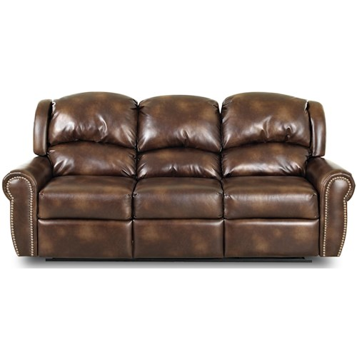 Klaussner McAlister Traditional Power Reclining Sofa with Rolled Arms and Winged Pub Back