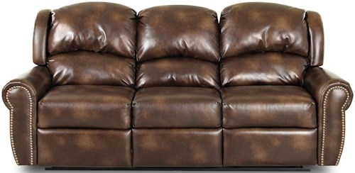 Klaussner McAlister Traditional Reclining Sofa with Rolled Arms and Winged Pub Back
