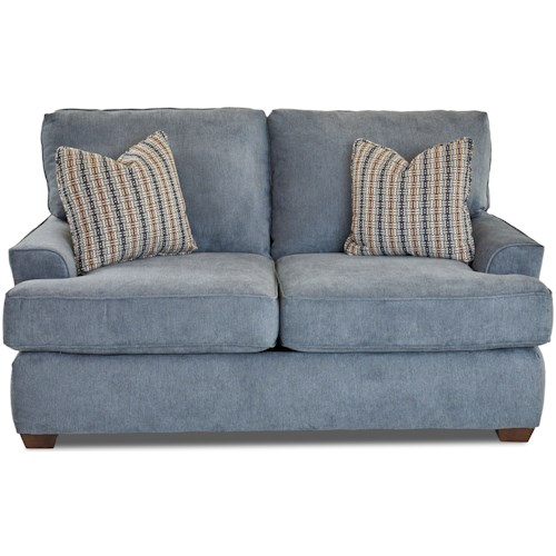 Klaussner McMillan Casual Loveseat with Extra Deep Seats