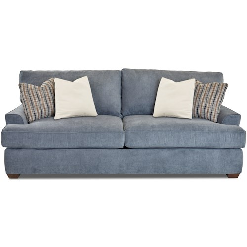 Klaussner McMillan Casual Two Seat Sofa with Extra Deep Seats