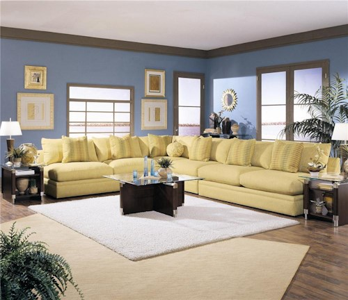 Klaussner Melrose Place Four Piece Sectional Sofa