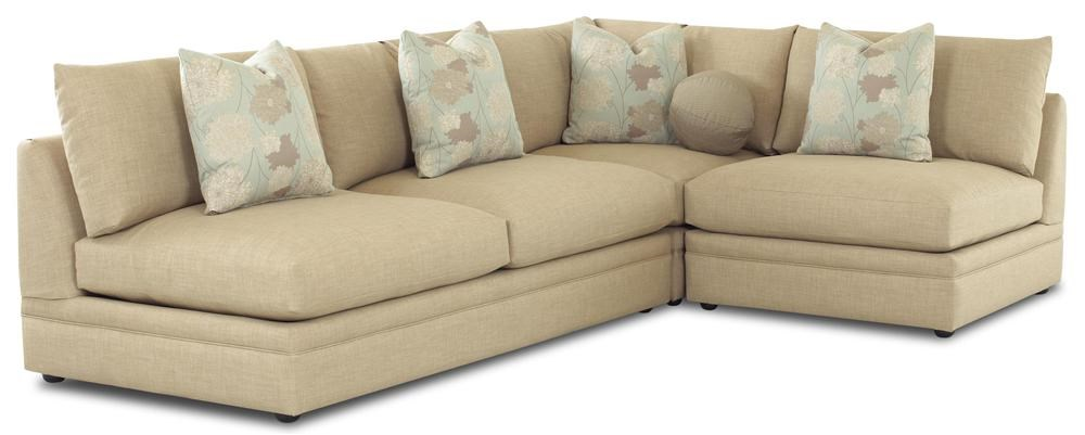Shown with Armless Chair and Corner as a Sectional