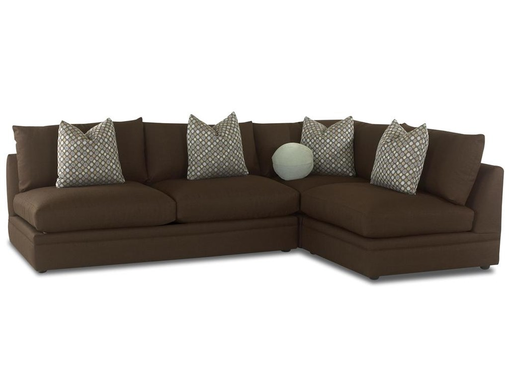 Klaussner Melrose PlaceArmless Love Seat