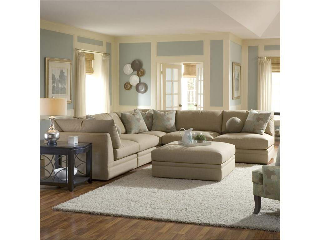 Shown with Corner Chairs and Armless Chair as a Sectional with Ottoman