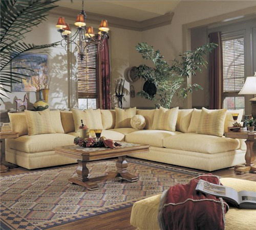 Klaussner Melrose Place Three Piece Sectional with Two Loveseats