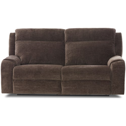 Klaussner Merlin Two Seat Reclining Sofa with Wide Seats
