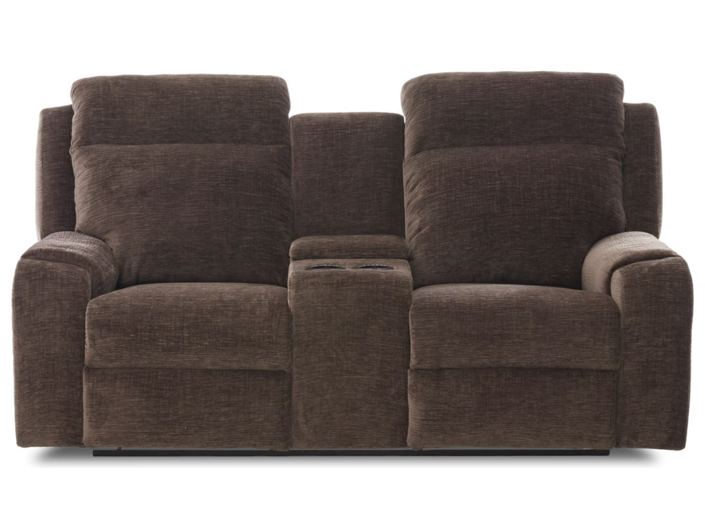 Klaussner MerlinPower Reclining Loveseat w/ Console