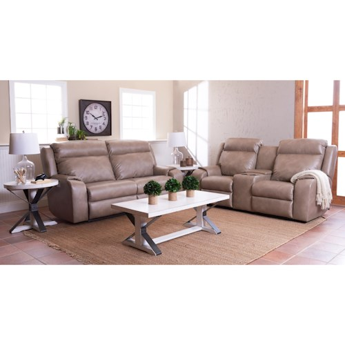Klaussner Merlin Reclining Living Room Group