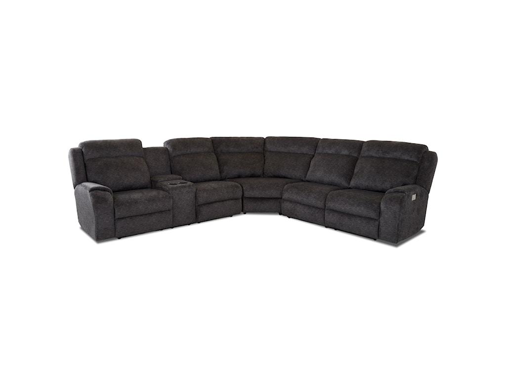 Elliston Place Merlin4 Seat Reclining Sectional Sofa