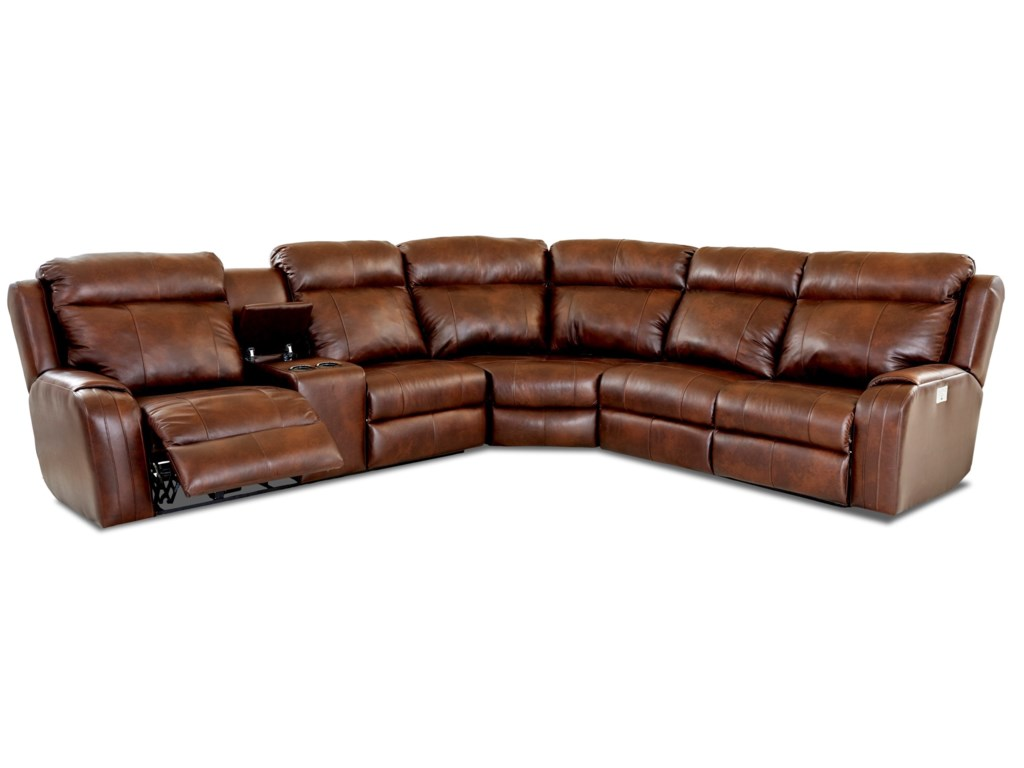 Klaussner Merlin4 Seat Reclining Sectional Sofa