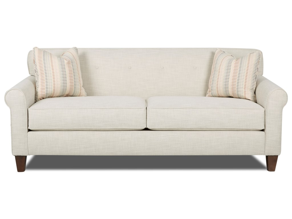 Klaussner Miller Small Scale Sofa With On Tuft Detail Miskelly Furniture Sofas