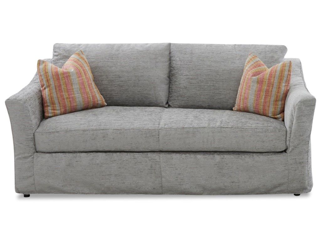 Minna Slipcover Sofa With Down Blend Cushions By Klaussner At Wayside Furniture