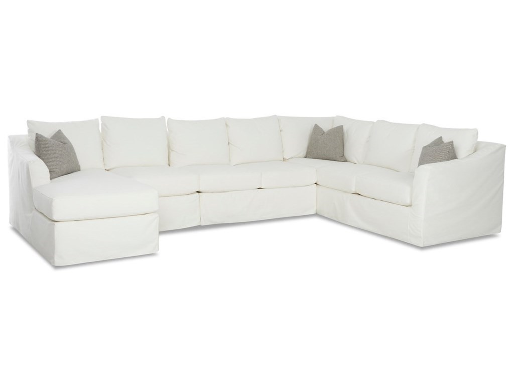 Minna 6-Seat Slipcover Sectional Sofa w/ LAF Chais