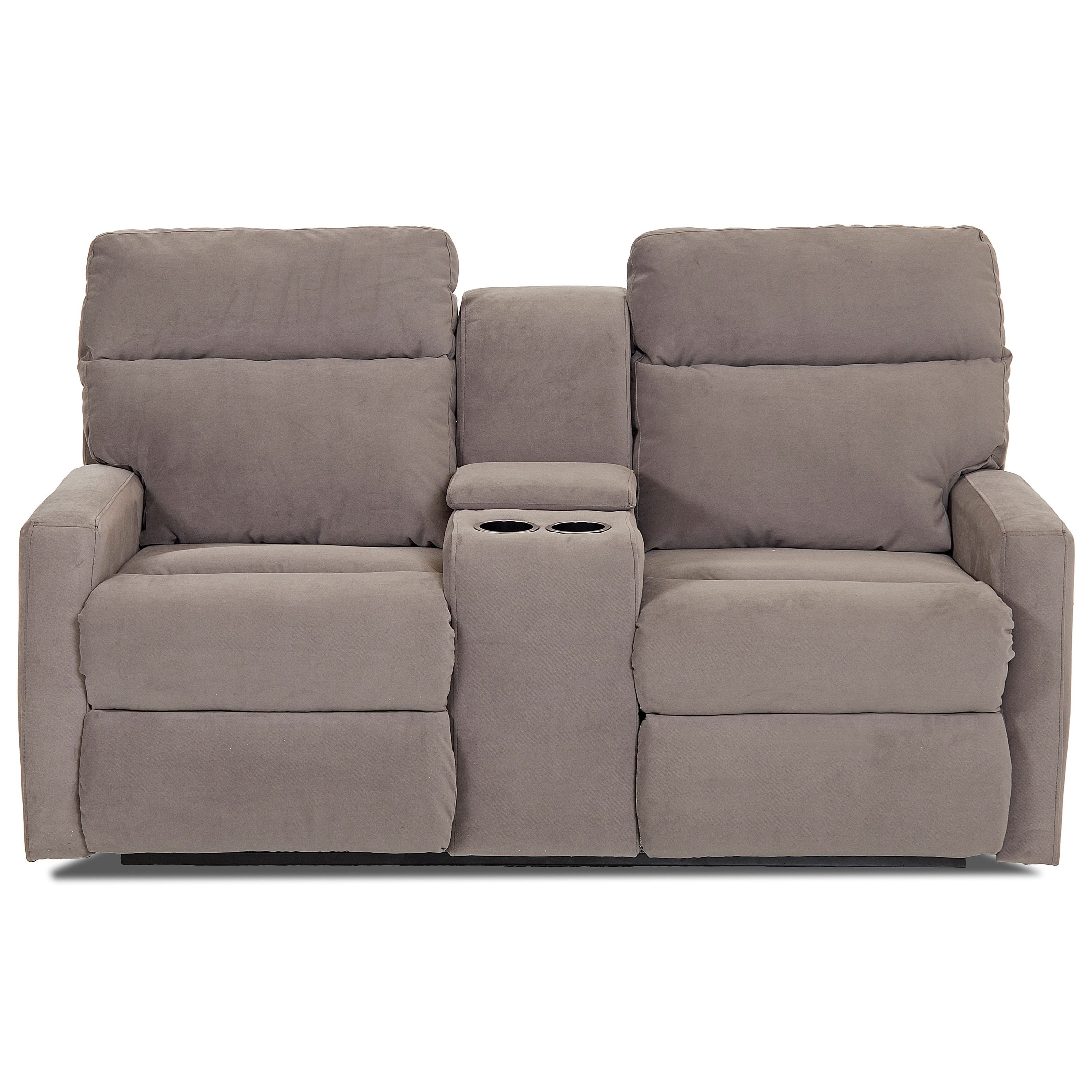Power Reclining Loveseat with Cupholder Console and Storage Compartment