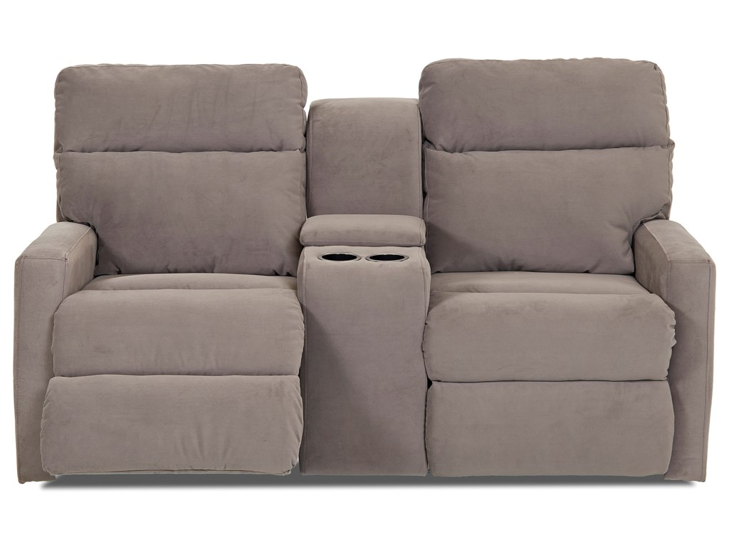 Klaussner MonticelloPower Console Reclining Loveseat