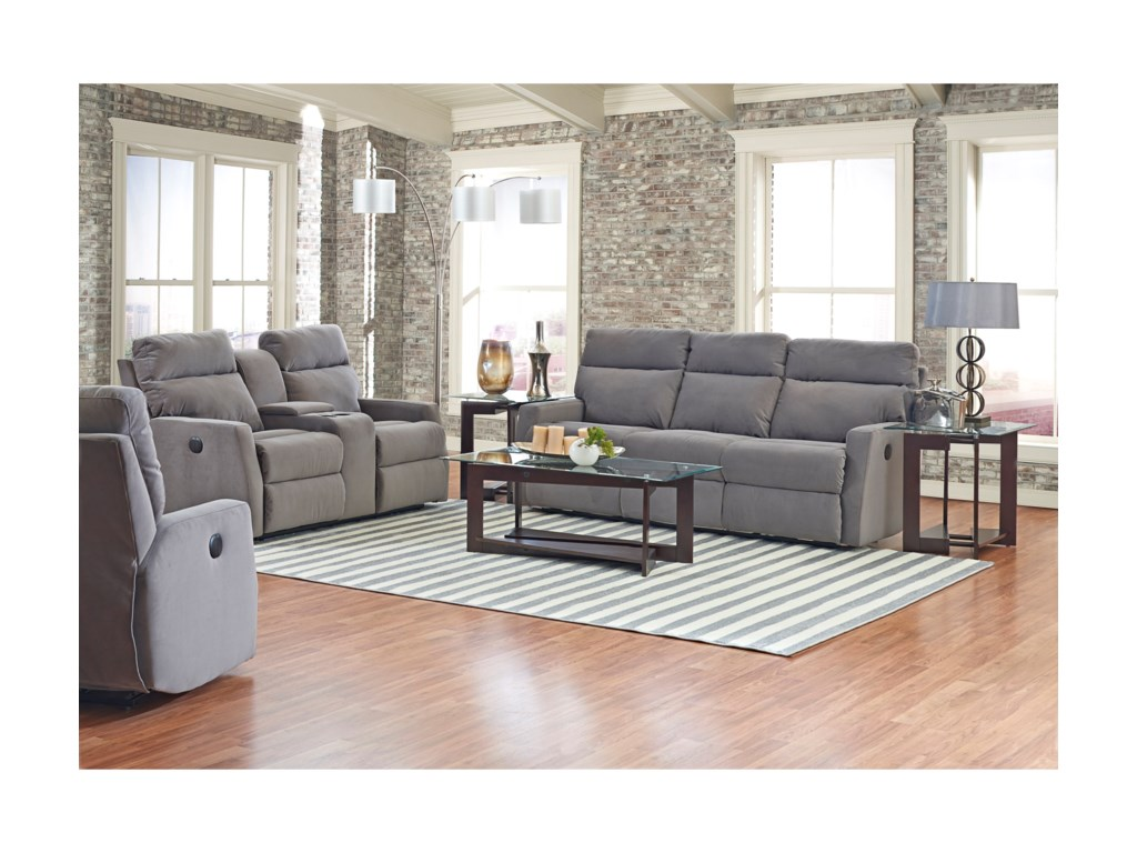 Klaussner MonticelloConsole Reclining Loveseat
