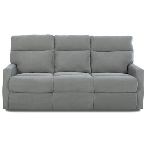 Klaussner Monticello Reclining Sofa with Soft Track Arms