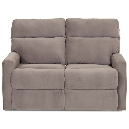 Klaussner Monticello Power Reclining Loveseat with Track Arms