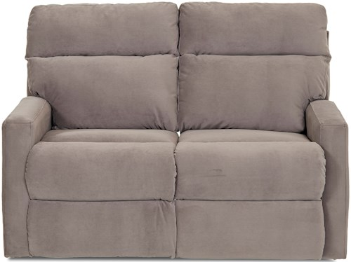 Klaussner Monticello Reclining Loveseat with Track Arms