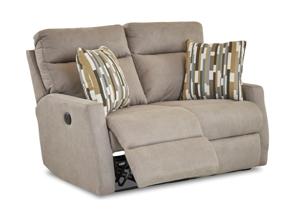 Klaussner DaphnePower Reclining Loveseat w/ Pillows
