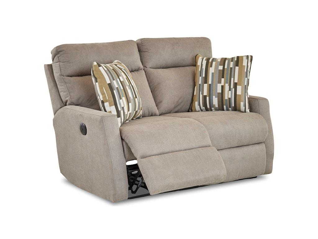 Simple Elegance DaphnePower Reclining Loveseat w/ Pillows