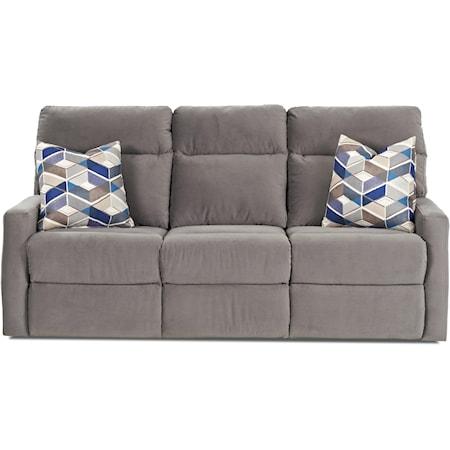 Power Reclining Sofa w/ Pillows