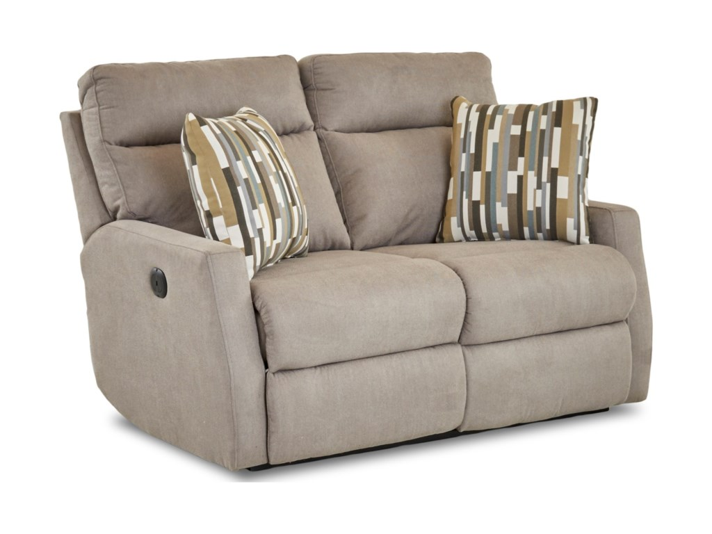 Simple Elegance DaphneReclining Loveseat w/ Pillows
