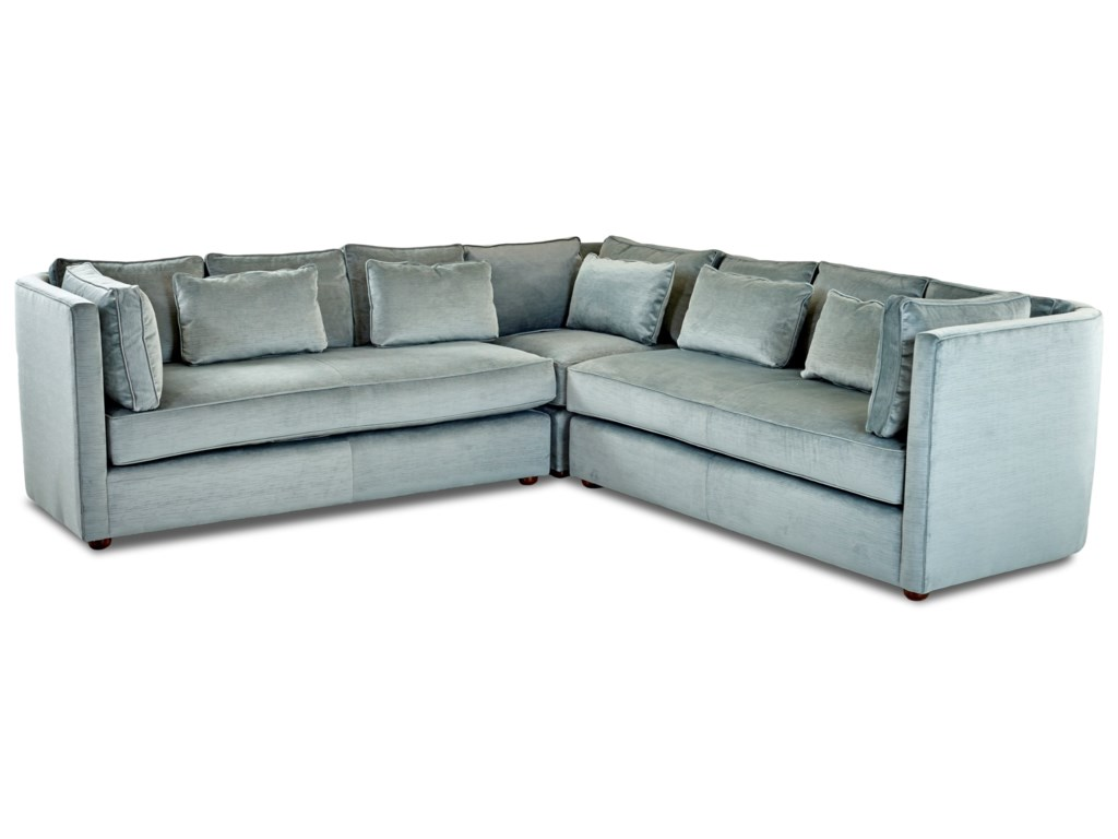 Klaussner MonroeL-Shaped Sectional