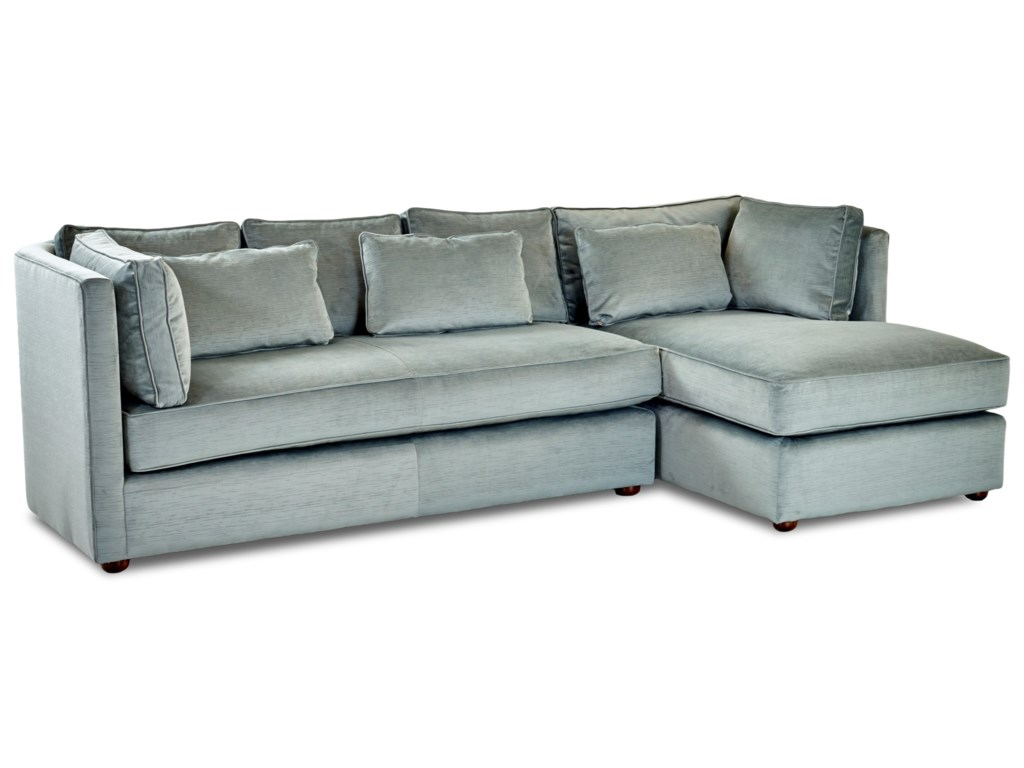 Klaussner Monroe Contemporary Sofa with Chaise | Morris Home ...