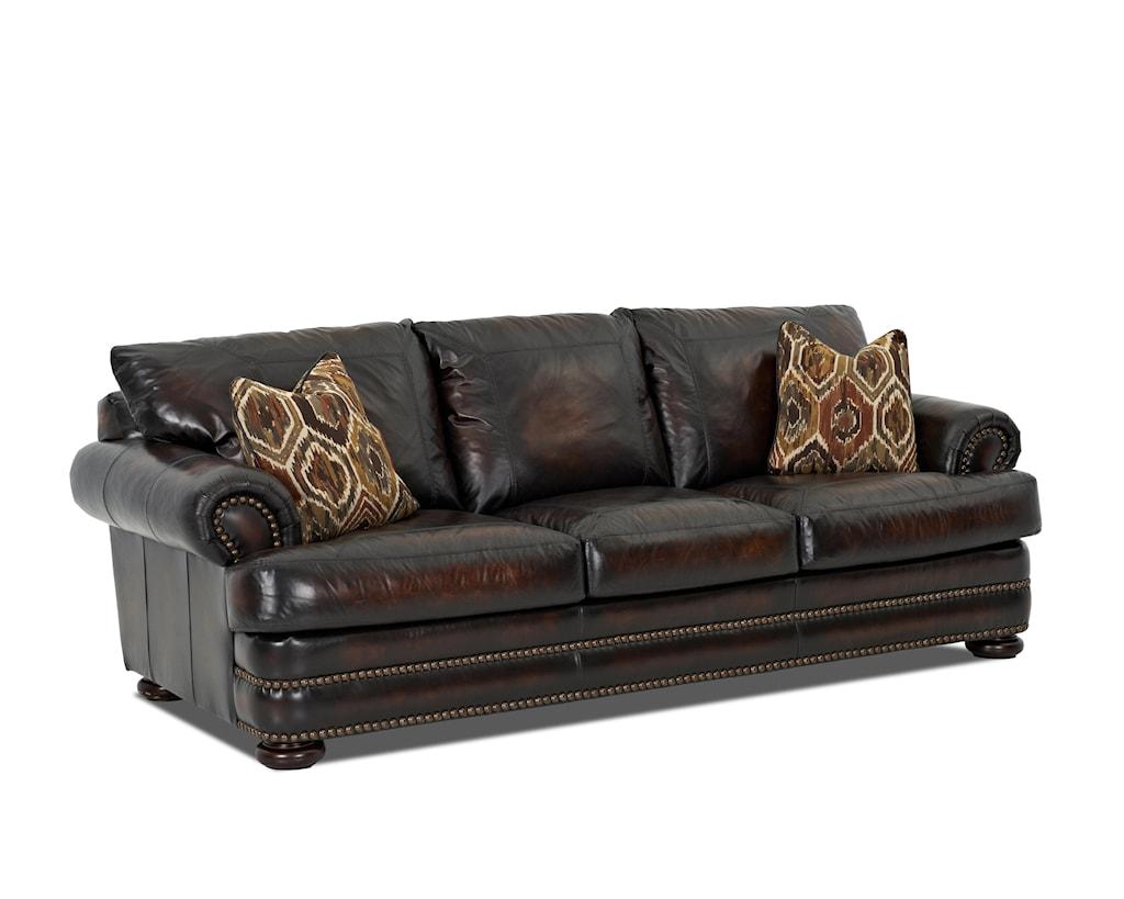 Elliston Place Montezuma Leather Sofa With Rolled Arms Morris  ~ Rolled Arm Leather Sofa
