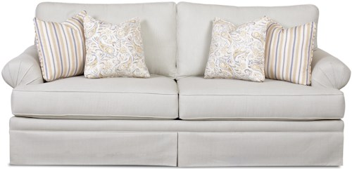 Klaussner Napatree  Casual Queen Dreamquest Sofa Sleeper with Rolled Arms