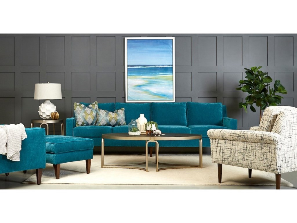 Klaussner Noho Contemporary Extra Large Sofa with Track Arms ...