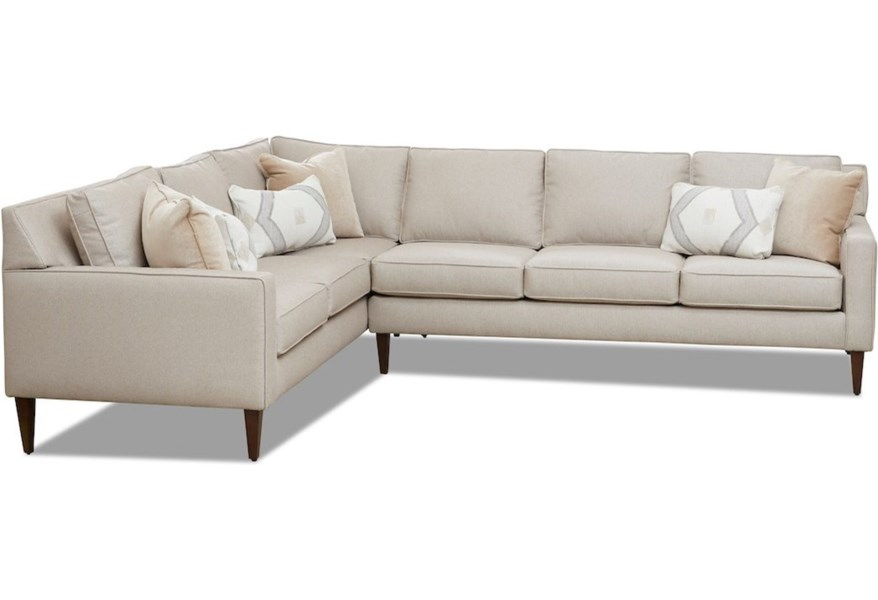 Klaussner Noho 5 Seat Sectional Sofa W