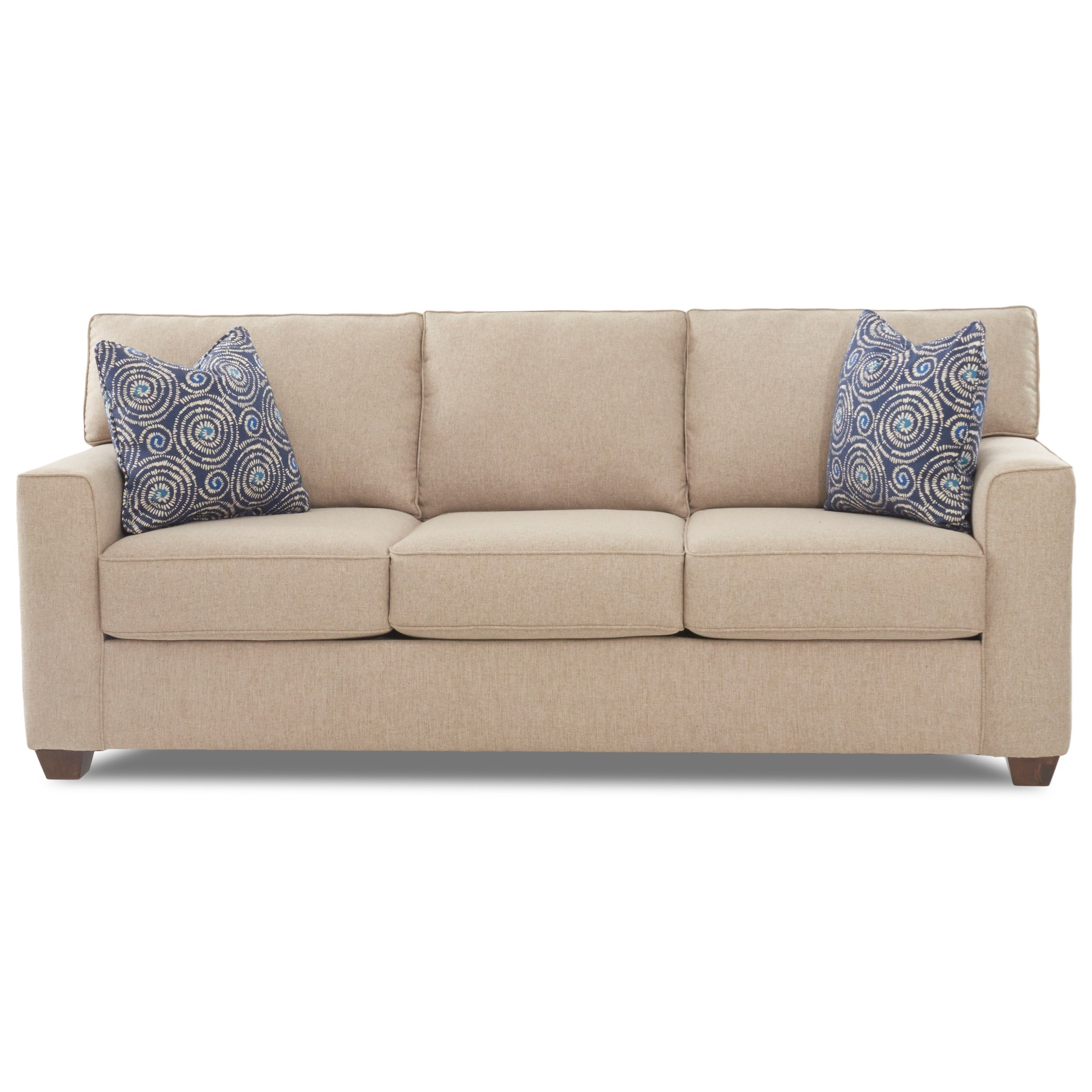 Contemporary 3-Seat Sleeper Sofa with Air Coil Mattress