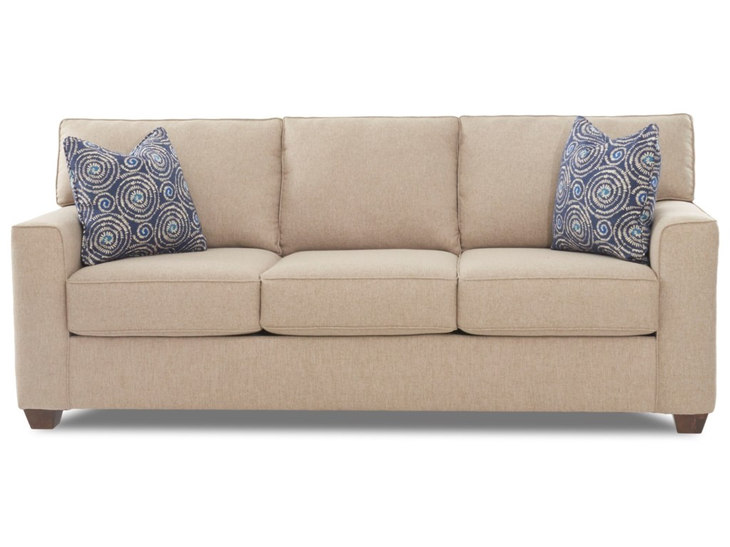 Klaussner Nolan K65900 Iqsl Contemporary 3 Seat Sleeper Sofa With