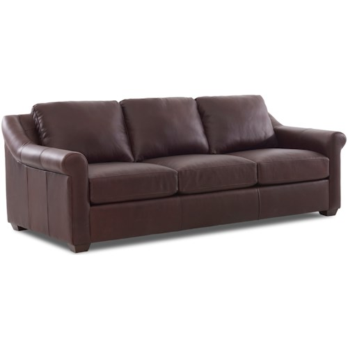 Klaussner Nyree Casual Leather Sofa