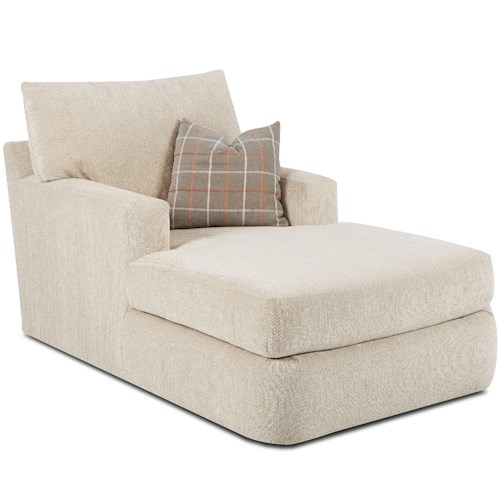 Klaussner Oliver Contemporary Track Arm Chaise