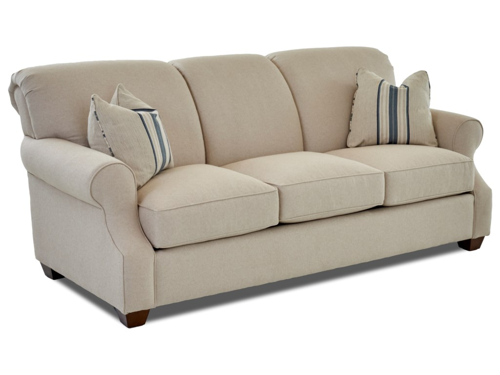 Klaussner Olivia K68500 Dqsl Casual Dreamquest Queen Sofa Sleeper