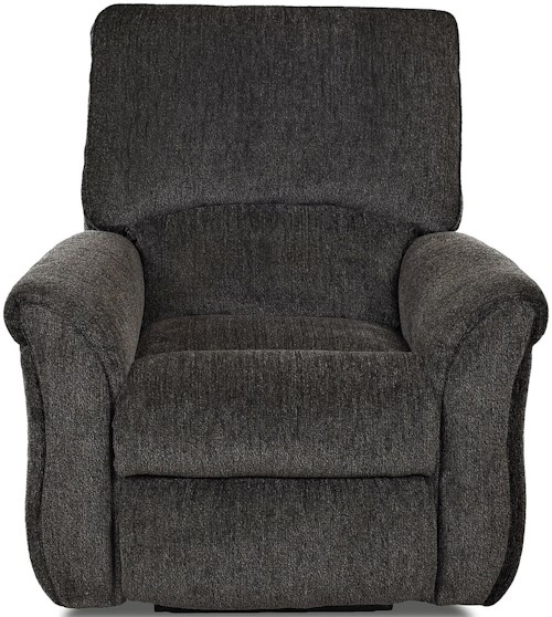 Klaussner Olson Transitional Power Reclining Chair with Pillow Top Flared Arms