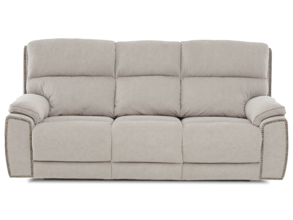 Klaussner OmahaPower Reclining Sofa w/ Nails & Pwr Head