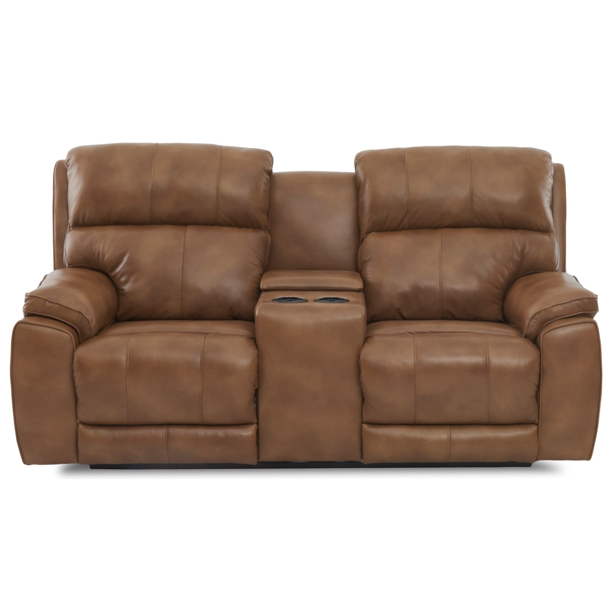 Klaussner Omaha Reclining Loveseat With Cupholder Storage Console Recliner Cup Holder And Storage38