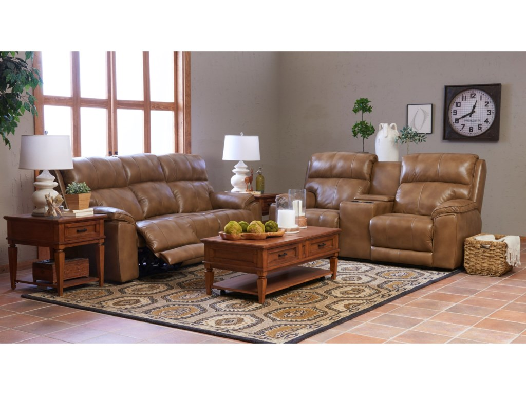 Klaussner OmahaPower Console Reclining Loveseat