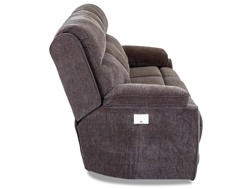 Klaussner OmahaPower Reclining Sofa w/ Pwr Headrests