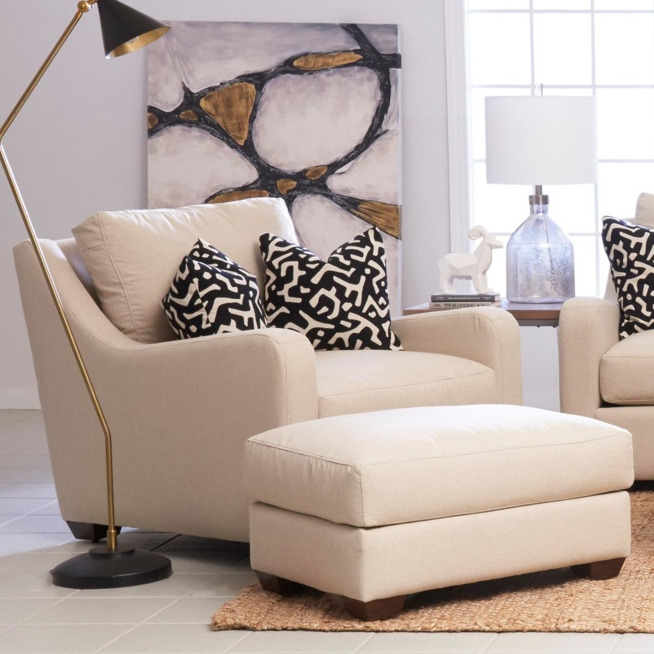 Klaussner Pandora (Distinctions By Klaussner) Big Chair And Ottoman Set    Royal Furniture   Chair U0026 Ottoman Sets
