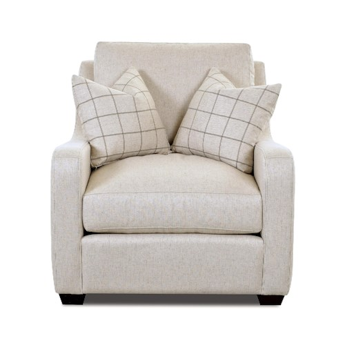 Klaussner Pandora Transitional Big Chair with Track Arms