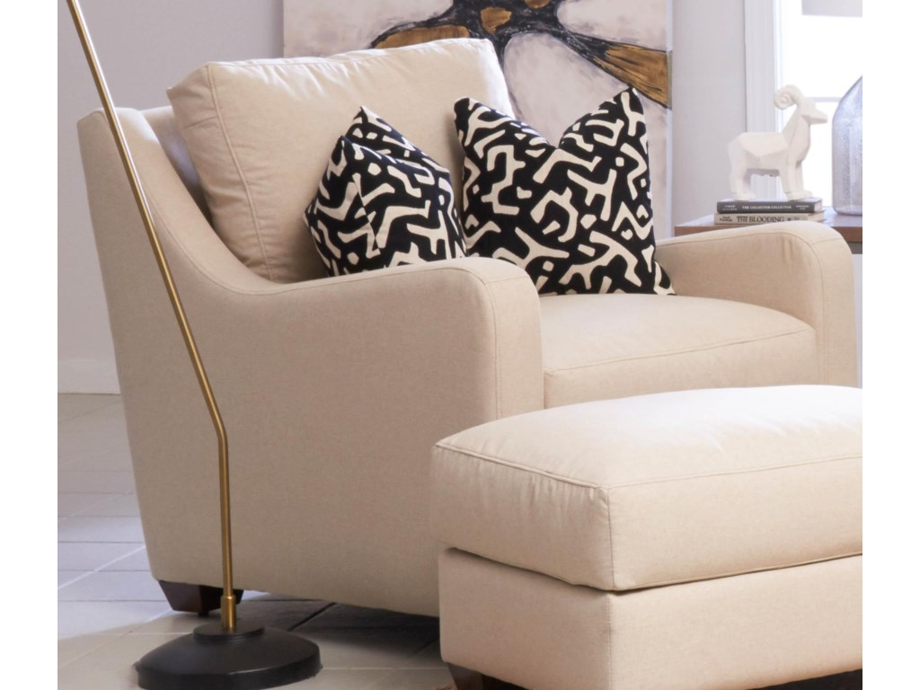 Pandora (Distinctions by Klaussner) Transitional Big Chair with Track Arms  by Klaussner at Royal Furniture