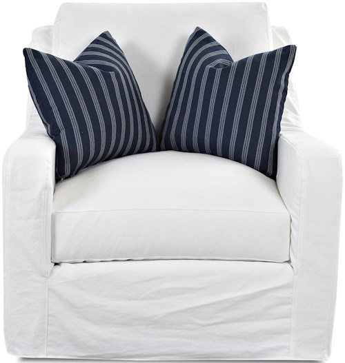 Klaussner Pandora Transitional Big Chair with Slip Cover